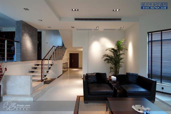 带中央空调的中式客厅吊顶